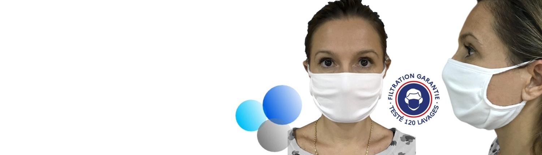 Masque UNS1 (de catégorie 1) testé 120 lavages